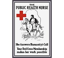 The Public Health Nurse -- Red Cross Photographic Print