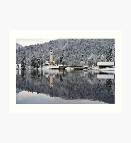 Lake Bohinj in Winter Art Print