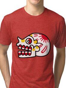 Aztec Skull 2 Tri-blend T-Shirt