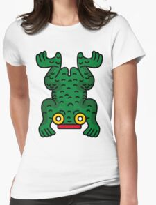 Aztec Frog Womens Fitted T-Shirt