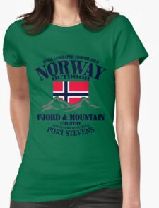 Norway - Fjord & Mountain Womens Fitted T-Shirt