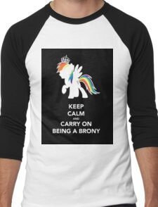 Brony On  Men's Baseball ¾ T-Shirt