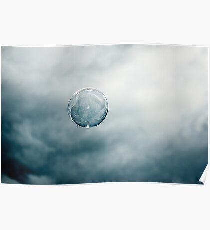 Floating (Blue Bubble ;-)) Poster