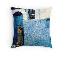 THE COLOUR OF HER DRESS IS PERFECT WITH THE REST OF THE PLACE!!! Morocco Throw Pillow