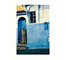 THE COLOUR OF HER DRESS IS PERFECT WITH THE REST OF THE PLACE!!! Morocco Art Print