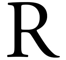 R, Alphabet Letter, Romeo, Roger, A to Z, 18th Letter of Alphabet, Initial, Name, Letters, Tag, Nick Name by TOM HILL - Designer