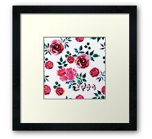 Beautiful hand-drawn flowers. Watercolor floral seamless pattern Framed Print