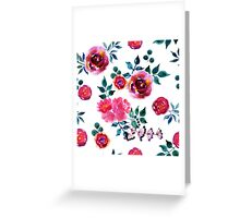 Beautiful hand-drawn flowers. Watercolor floral seamless pattern Greeting Card