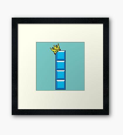 Tetris King Framed Print