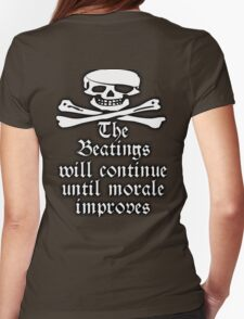 PIRATE, Pirate Morale, Jolly Roger, Skull & Crossbones, Buccaneers, Me Hearties! white T-Shirt