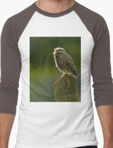 Backlit Little Owl Men's Baseball ¾ T-Shirt