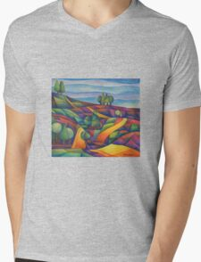 The Colour Fields Mens V-Neck T-Shirt