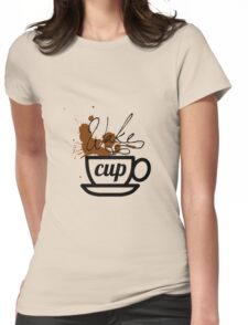 wake cup Womens Fitted T-Shirt