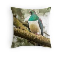 New Zealand Wood Pigeon Throw Pillow