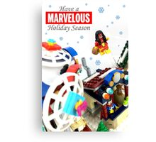 """Marvelous"" LEGO Holiday Card Collection Canvas Print"