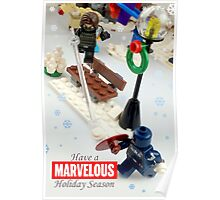 """""""Marvelous"""" LEGO Holiday Card Collection Poster"""