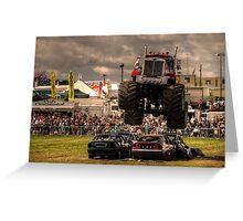 Monster Truck Destruction  Greeting Card