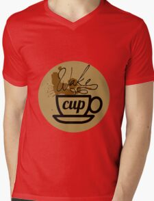 wake cup fos Mens V-Neck T-Shirt