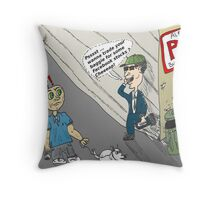 Street options broker and the FB shares Throw Pillow