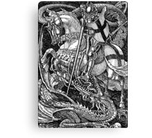 St George and the Dragon Canvas Print