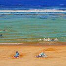 A Day at the Beach, Australia by Carole Elliott