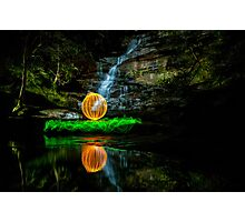 Somersby Falls - having a ball Photographic Print