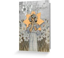 Vintage Victorian Lady - Adoration Greeting Card