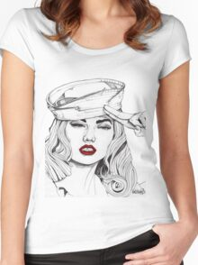 Sailor Girl 2 Women's Fitted Scoop T-Shirt