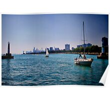 Sailboats in Chicago Poster