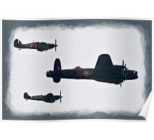 Lancaster & Spitfire Flypast Poster