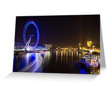 River Thames at Night Greeting Card