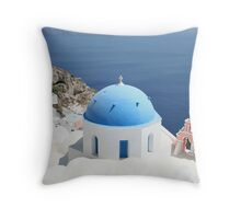 Blue Domes. Throw Pillow