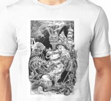 Woman tormented by demons Unisex T-Shirt