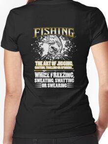 Fishing- The Art Women's Fitted V-Neck T-Shirt