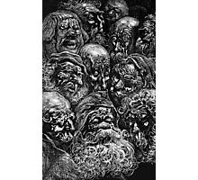 Spooky Faces Photographic Print