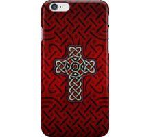 Celtic Cross on Celtic Knot iPhone Case/Skin