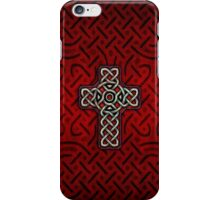 Celtic Cross on Celtic Knot iPhone Case/Skin