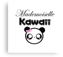 mademoiselle kawaii Canvas Print