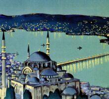 Vintage Golden Horn Istanbul Turkey travel  Sticker