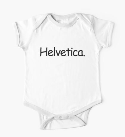 Helvetica (Black) One Piece - Short Sleeve