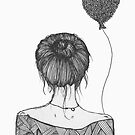 Girl with a Balloon by samclaire