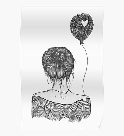 Girl with a Balloon Poster