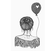 Girl with a Balloon Photographic Print