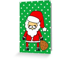 Adorable Kawaii Cartoon Santa Claus Greeting Card Greeting Card