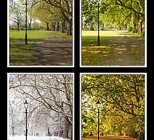 Four Seasons of Clapham Common by Llewellyn Cass