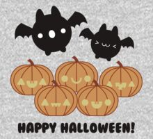 Halloween Adorable Kawaii Pumpkins and Bats One Piece - Long Sleeve