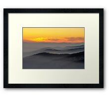 Evening fog Framed Print