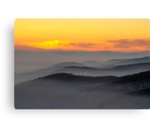 Evening fog Canvas Print