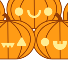 Halloween Adorable Kawaii Pumpkins Sticker