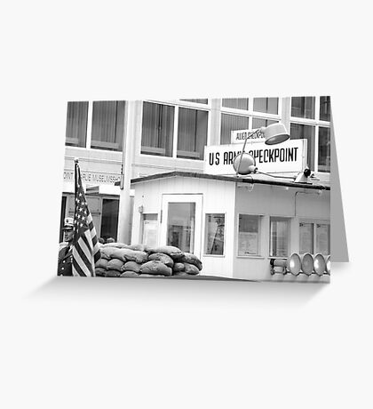 US Army - Check Point Charlie, Berlin. Greeting Card